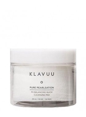 KLAVUU Pure Pearlsation PH Balancing Quick Cleansing Pad 50pc